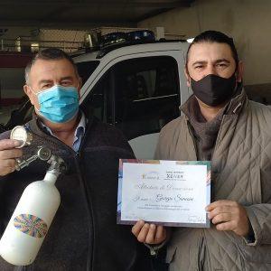 Donazione bombola d'ossigeno di primo intervento a favore dell'associazione Arcobaleno – 13 Dicembre 2020